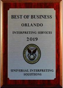 Interpreting Best of Orlando 2019